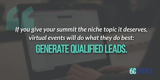 virtual event software helps generate leads
