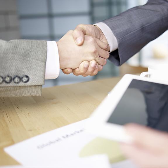 event sponsorship handshake