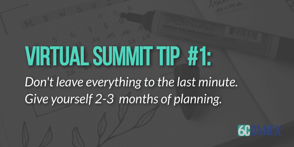 virtual summit tips for success