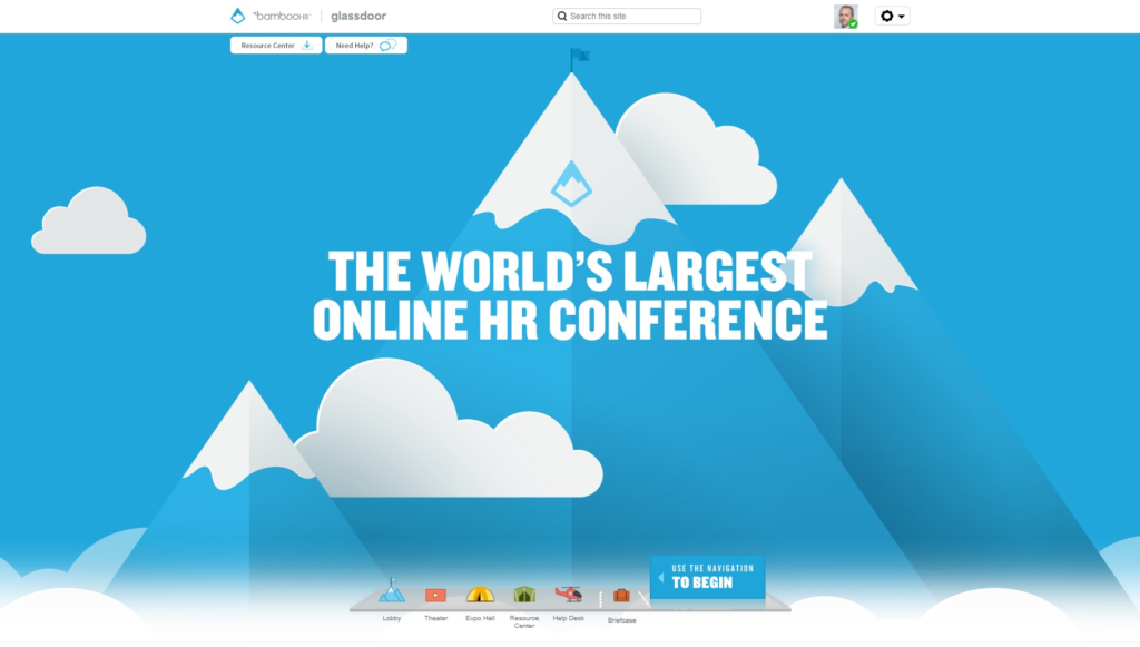 bamboo hr worlds largest online hr conference welcome screen